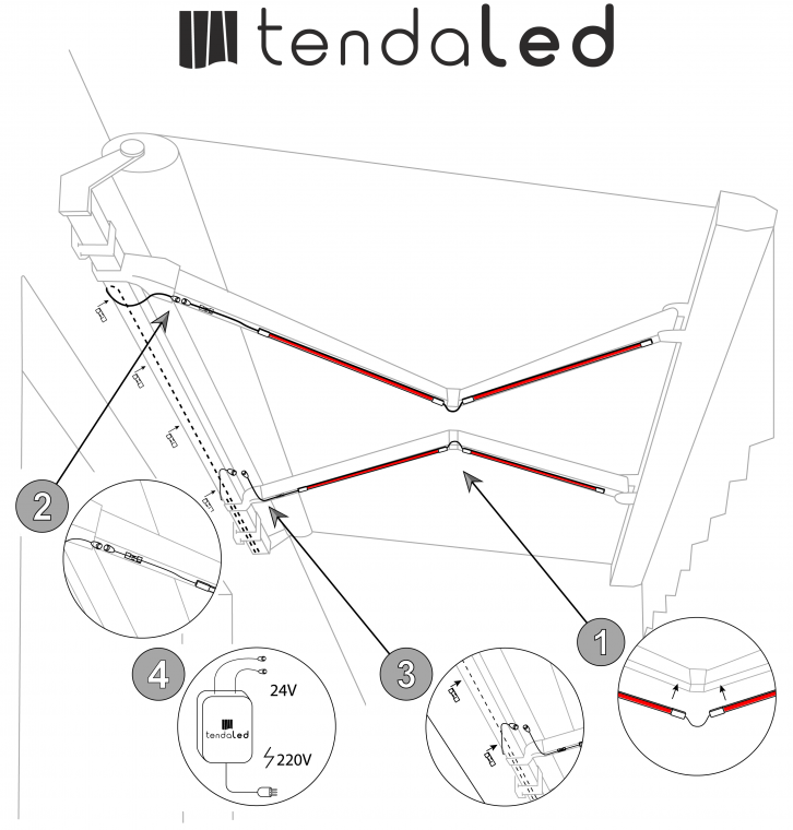 tendaled installation details